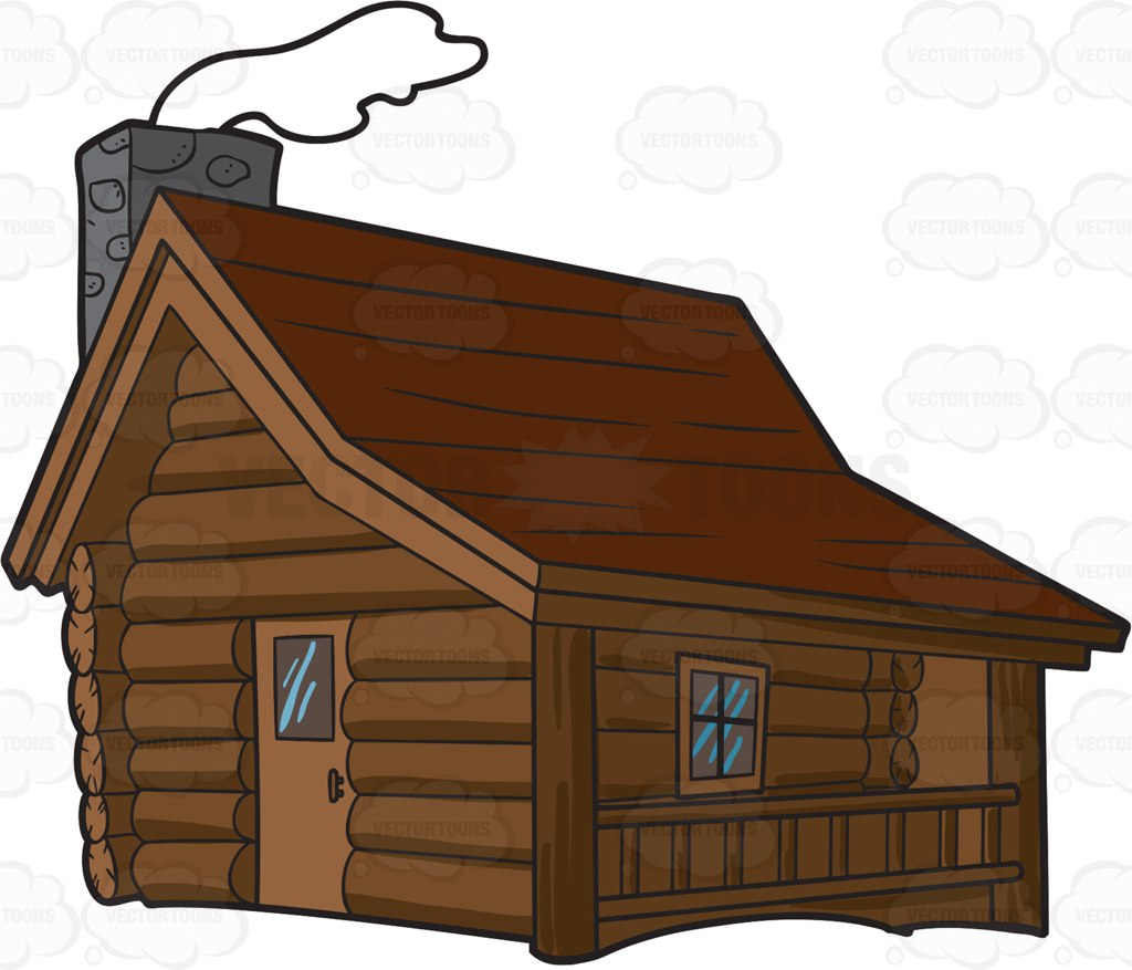 Free log cabin cliparts. Cottage clipart hut