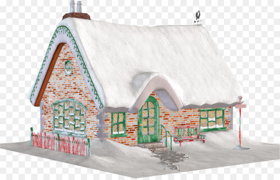 Cabin clipart snowy cabin. Santa claus cottage christmas