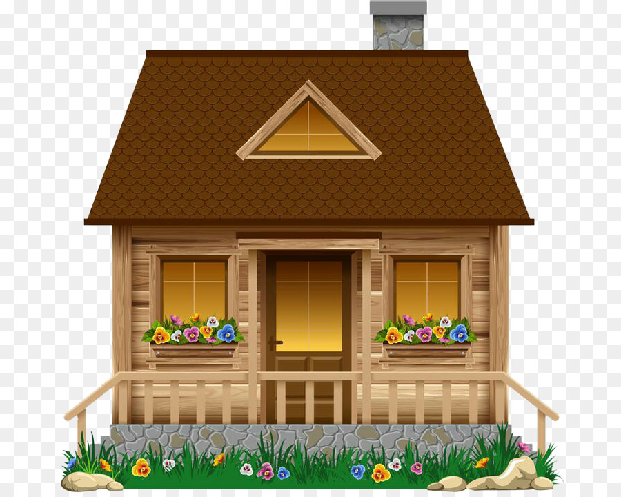 Summer illustration house home. Cottage clipart hause
