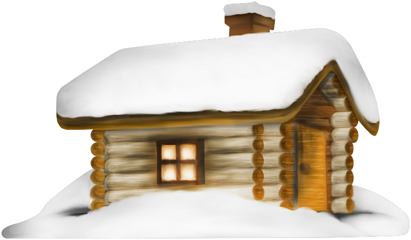Winter clipart cabin. Transparent house with snow