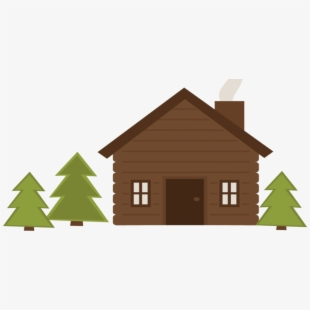 Clip royalty free library. Cabin clipart vacation house