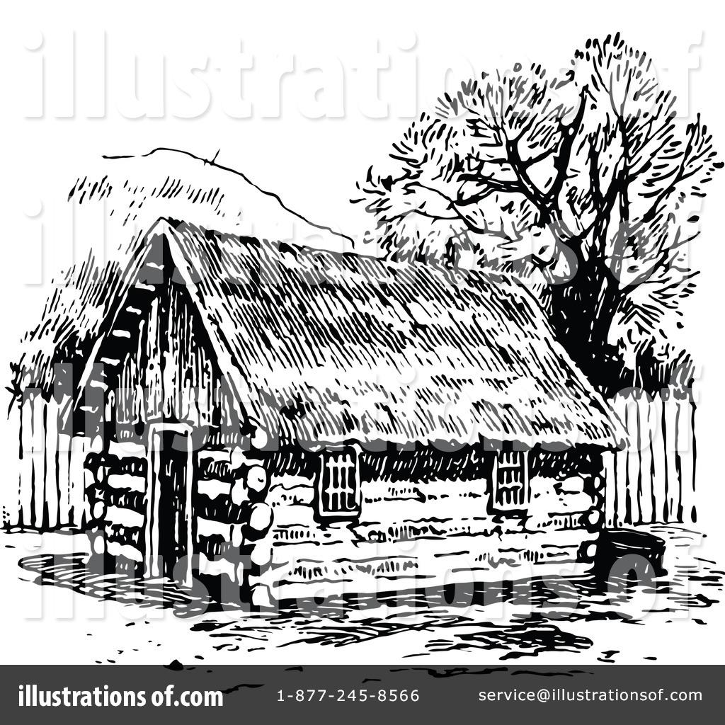 Illustration by prawny royaltyfree. Hut clipart vintage