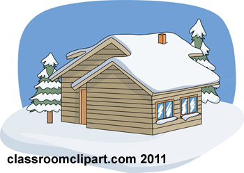 Winter clipart cabin. Weather snow trees classroom