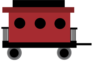 Red . Caboose clipart