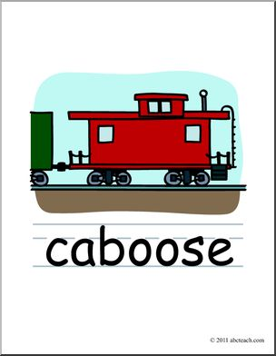Clip art basic words. Caboose clipart