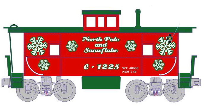 F m says christmas. Caboose clipart box