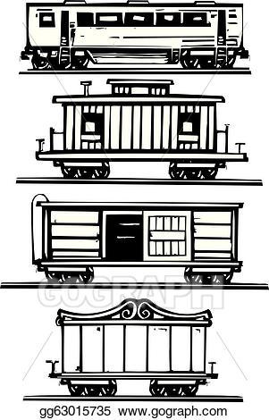 Caboose clipart boxcar. Vector art train car