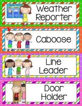 Classroom helpers clip and. Chart clipart cute
