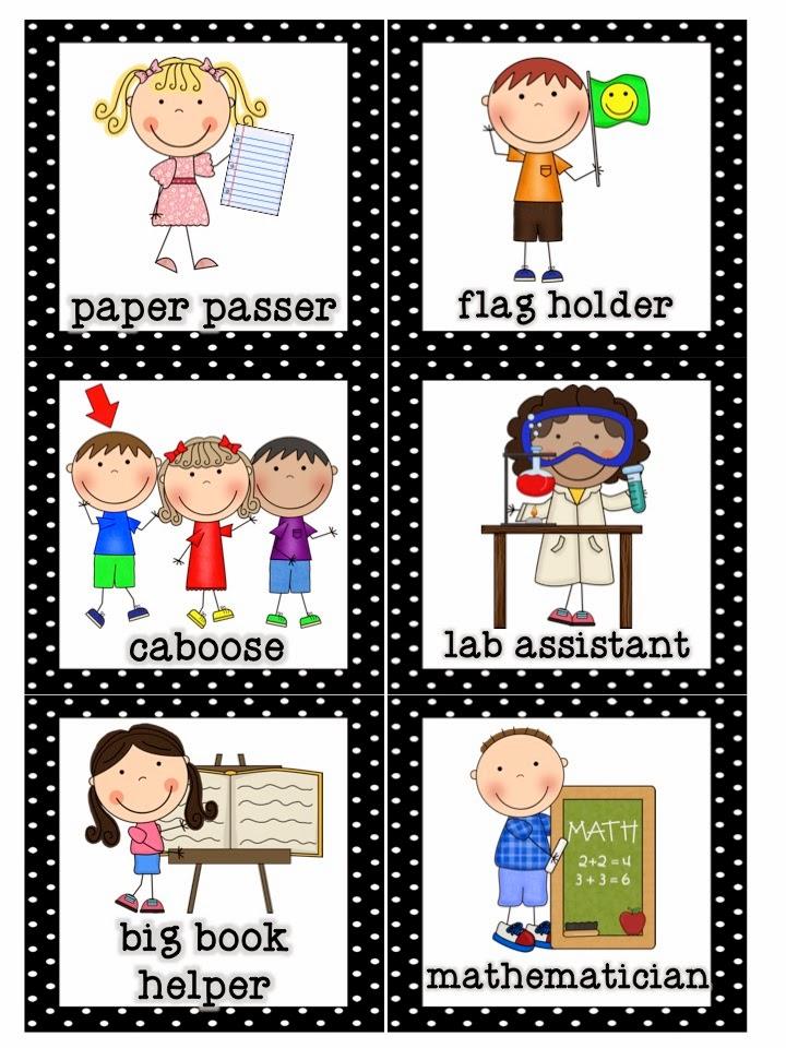 Caboose classroom job chart