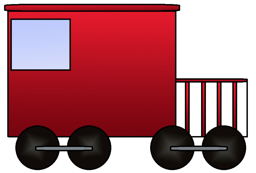 Engine clipart tran. Caboose clip art train
