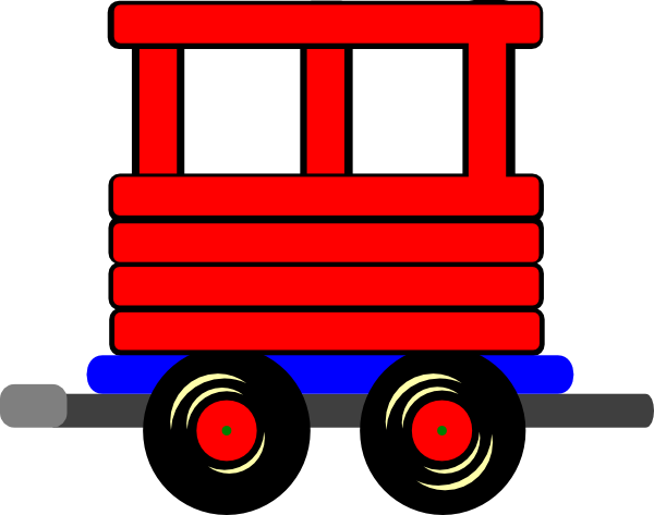 Cars clipart vector. Cuboos train
