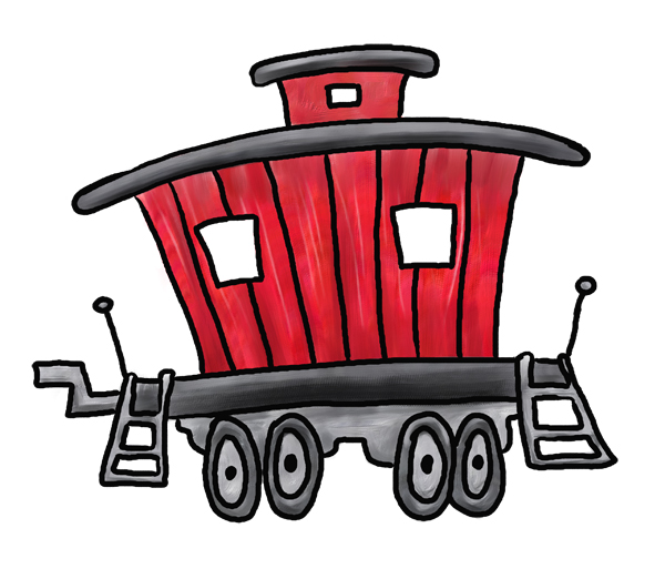 Train drawing at getdrawings. Engine clipart caboose