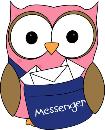 Free reading download clip. Owl clipart mail