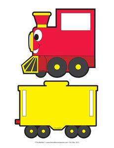 Train cliparts. Engine clipart caboose