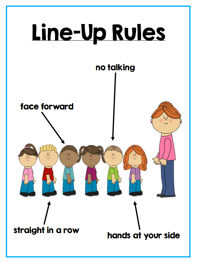 Rules clipart rule procedure. Classroom posters for lining