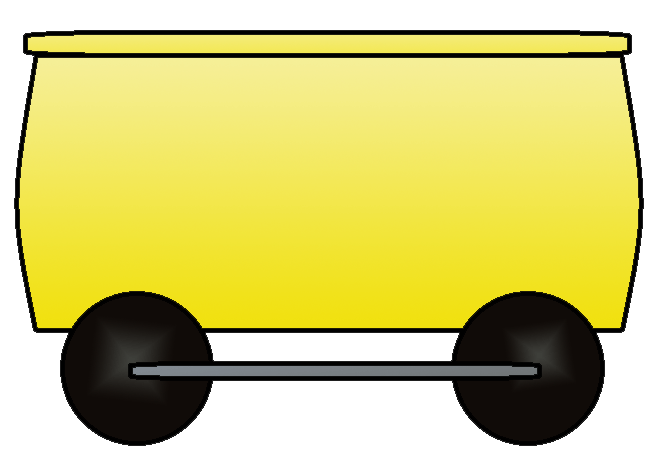 Train cars . Wagon clipart yellow