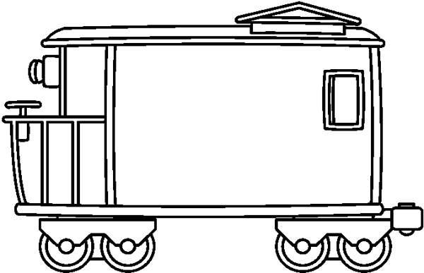 Black and white kind. Caboose clipart train wagon