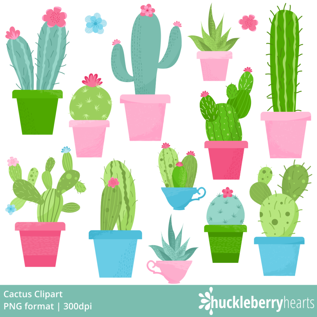 Cute Cactus Clipart - Homey Like Your Home