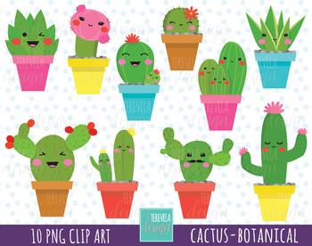 Cactus clipart.  sale kawaii botanical