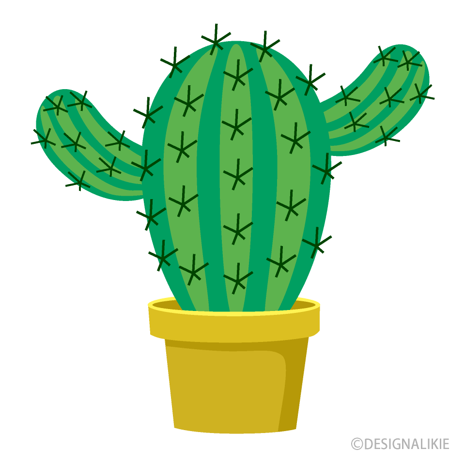 Cute free picture illustoon. Cactus clipart