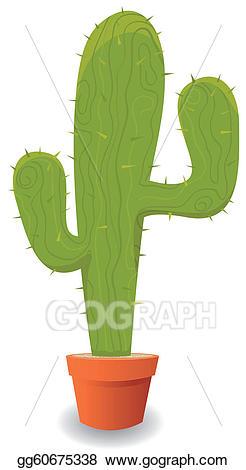 Eps illustration cartoon mexican. Cactus clipart animated