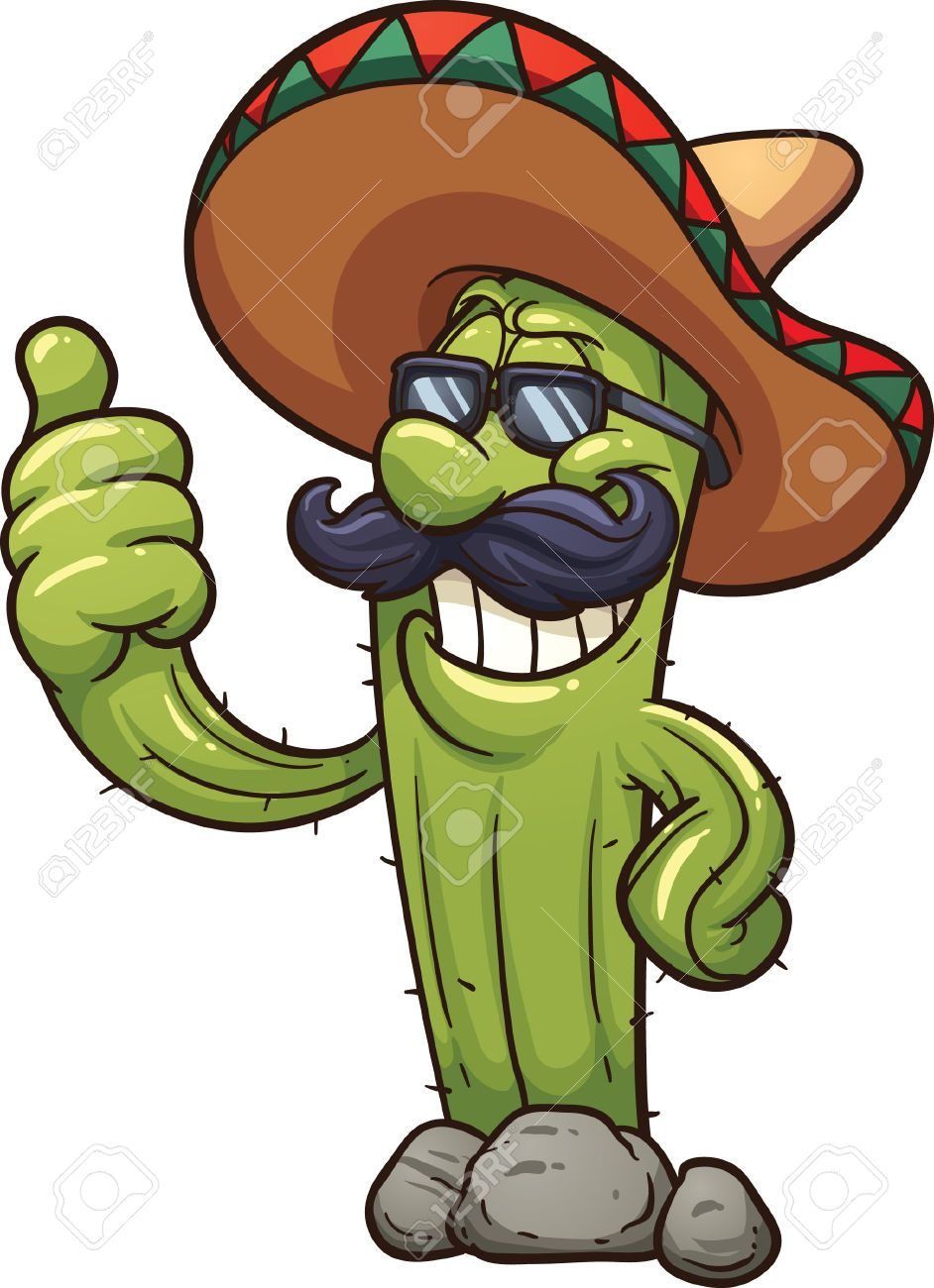 Cactus clipart animated. Mexican cartoon images stock