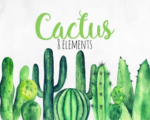 Cactus clipart banner.  best watercolor clip