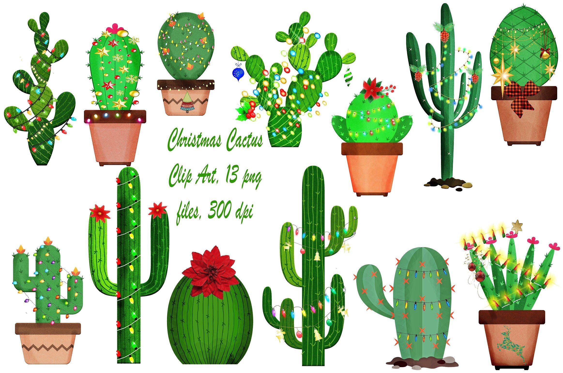 Sky clouds stars etc. Cactus clipart banner