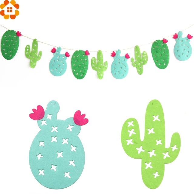 Cactus clipart banner.  set non woven