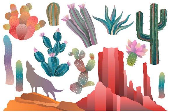 Vector png illustrations creative. Cactus clipart desert