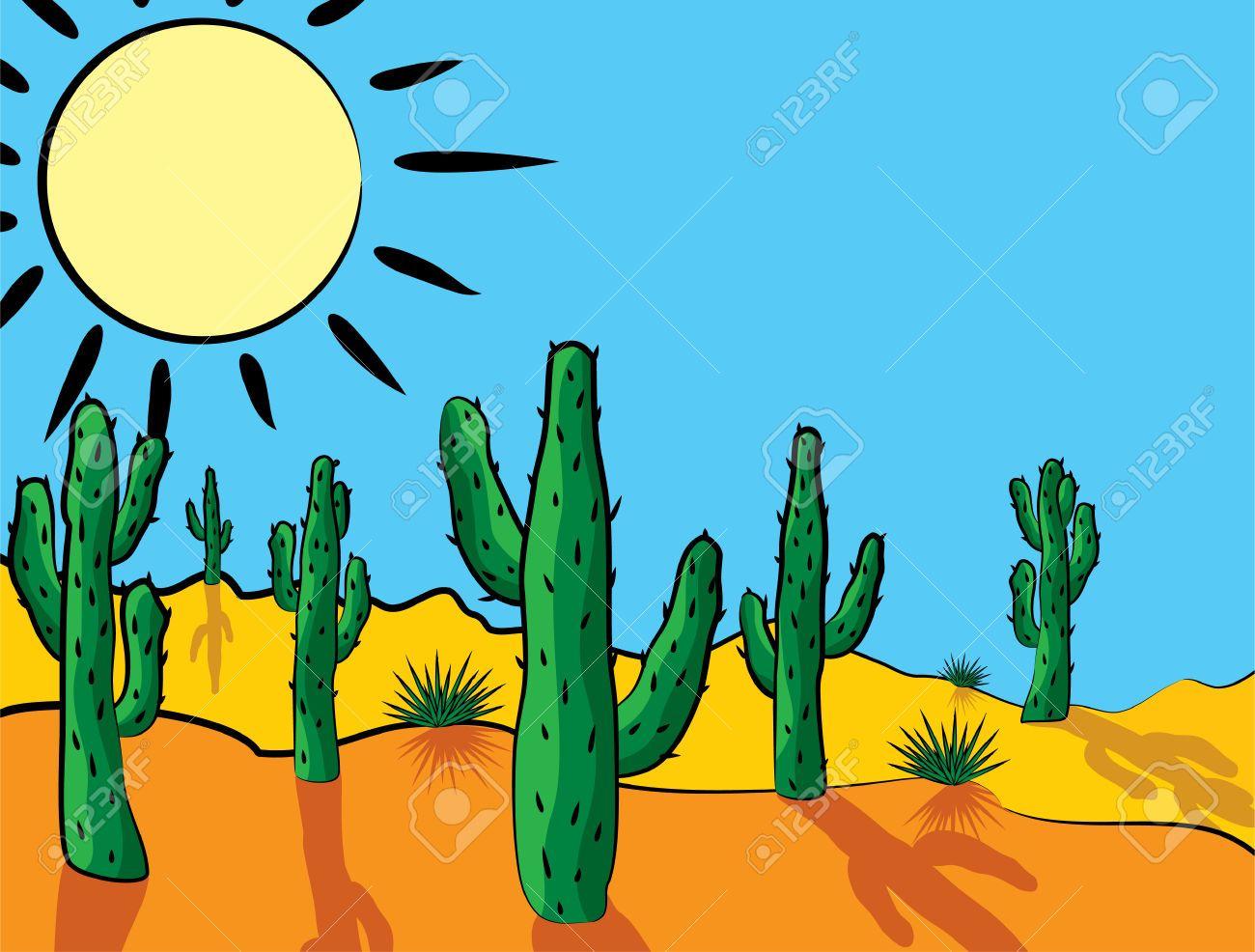 Vector in clip art. Cactus clipart desert