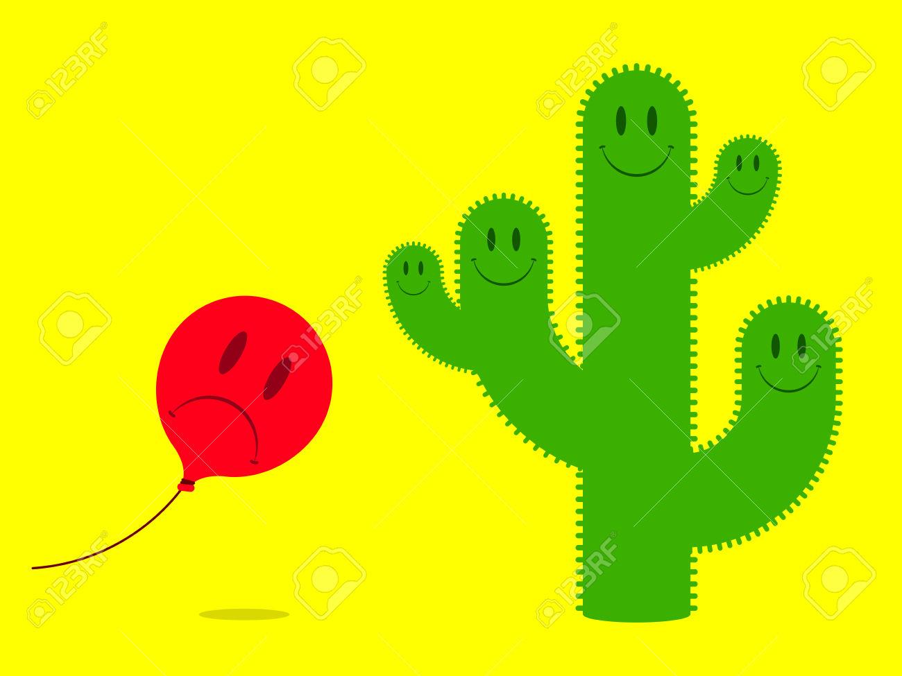 Cactus clipart face. Smiley
