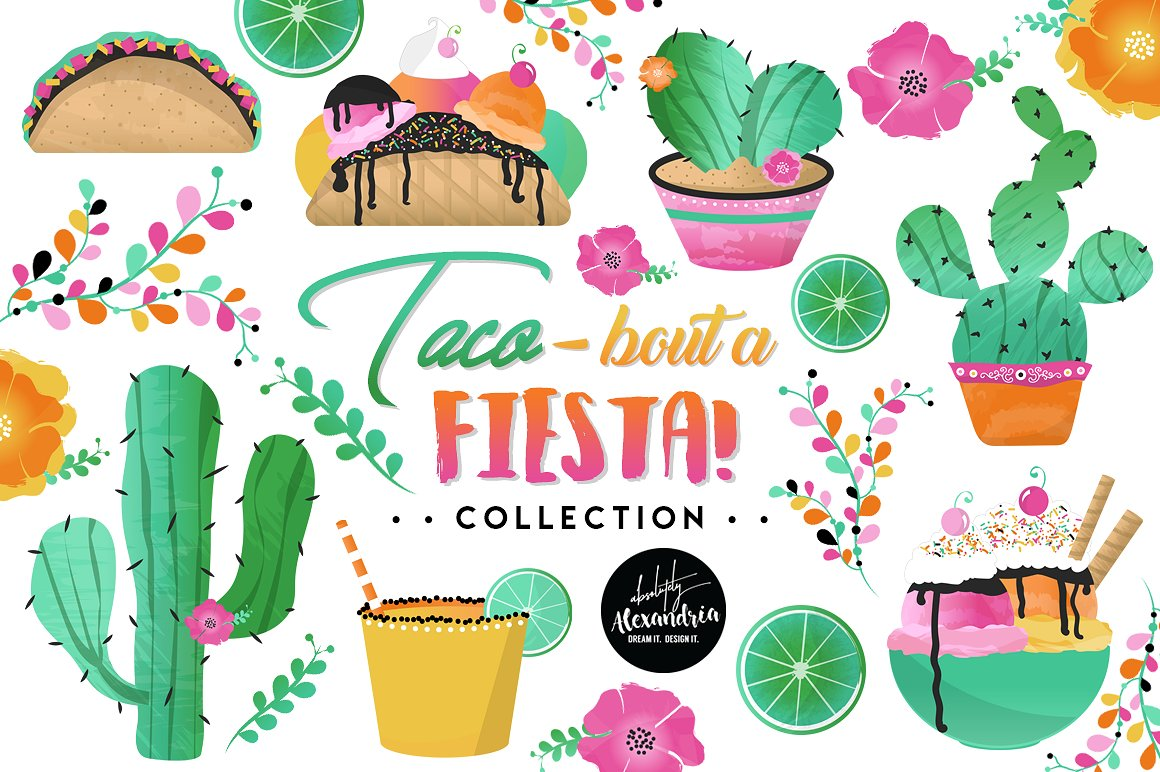 Taco bout a graphic. Cactus clipart fiesta