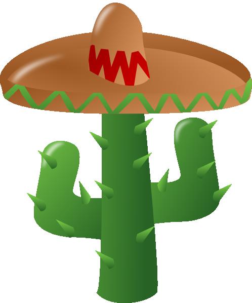 Wearing a sombrero clip. Cactus clipart fiesta