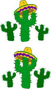 Mexico cinco de mayo. Cactus clipart fiesta