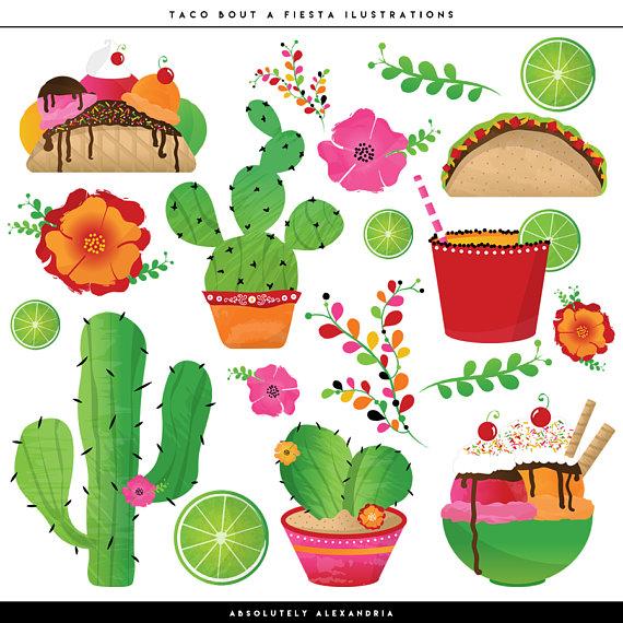 Taco bout a digital. Cactus clipart fiesta
