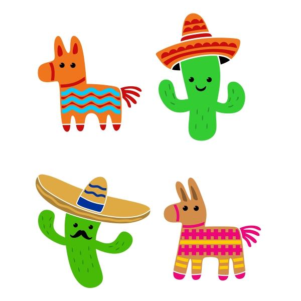 Cactus clipart fiesta. Cuttable design