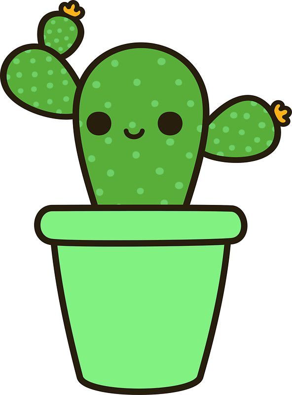 Cactus clipart hipster. Cute in green pot