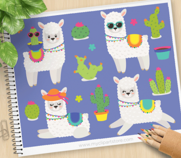 Cactus clipart hipster. Archives my store llama