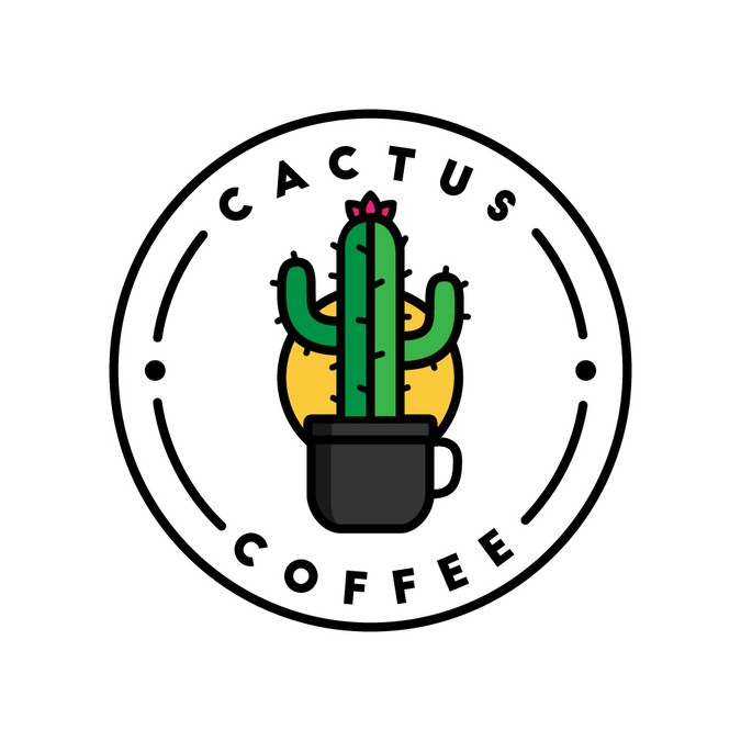 Coffee shop needs a. Cactus clipart hipster