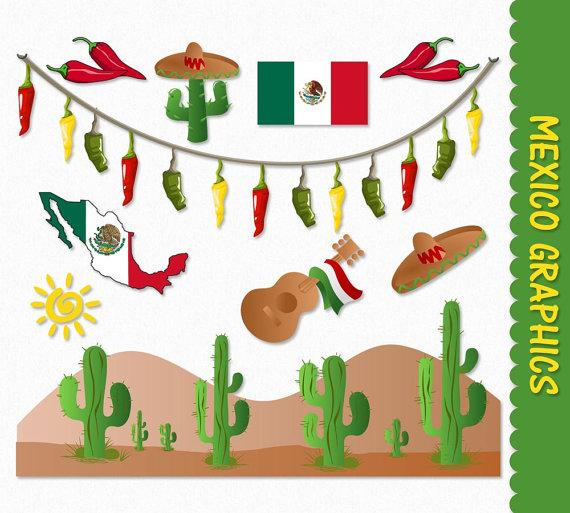Mexico clip art graphics. Cactus clipart mexican