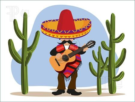 Mexican clipart cactus. Free clip art images