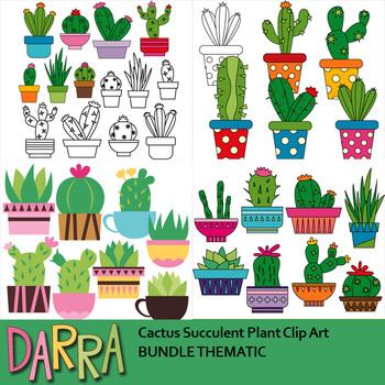 Succulent clipart modern. Cactus plant clip art
