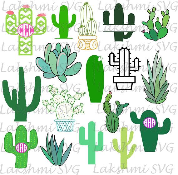 Svg silhouette svgcactus clipartcactus. Cactus clipart monogram