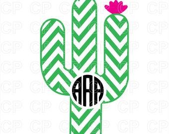 Cactus clipart monogram. Svg etsy cut files