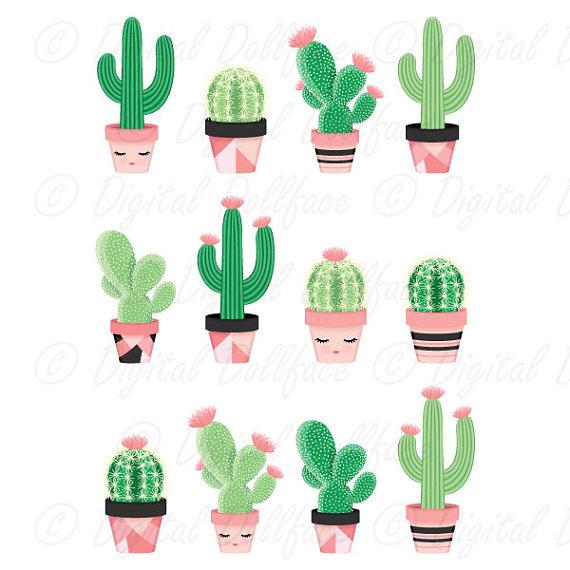 Cute potted clip art. Cactus clipart nopal