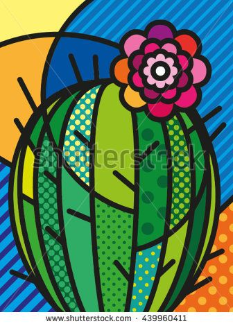 Cactus clipart pop art. Pin by lynn eyrich