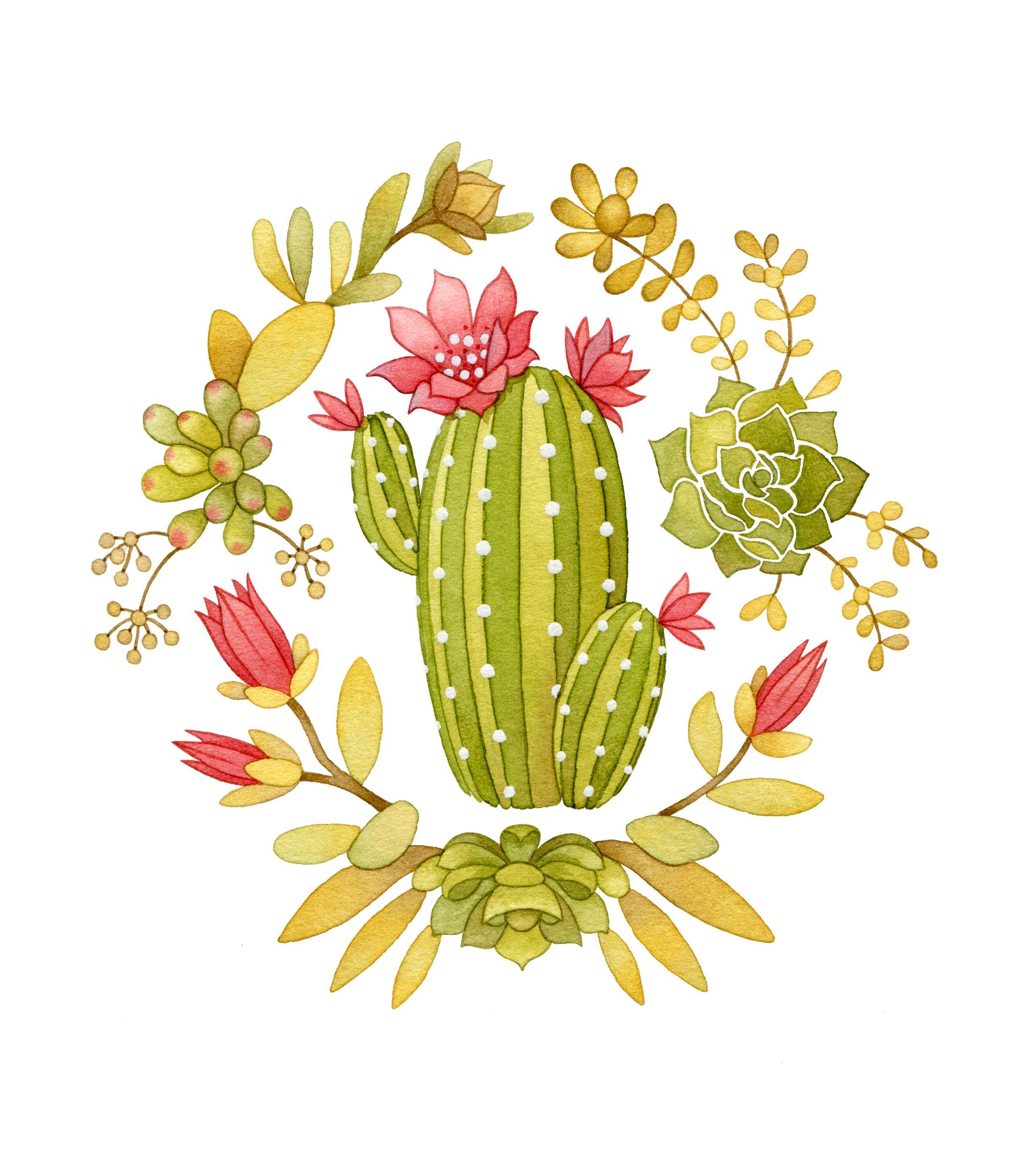 Cactus clipart pop art. Border the artillery