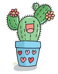 Cactus clipart pop art. Kawaii clip valentine cute