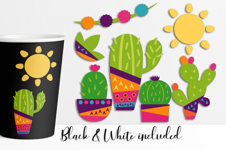 Summer clip png files. Cactus clipart pop art
